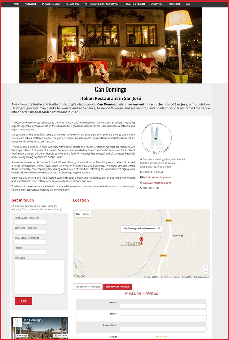 Sales Page Example when Advertise with us What's on in Stevenage.com